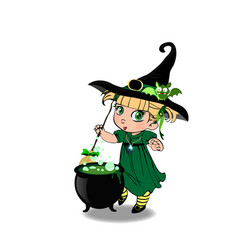 halloween clip art character of kawaii blonde vector image