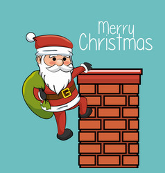 happy merry christmas santa claus character vector image
