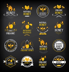 Honey badge and label Abstract bee design vector image