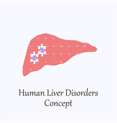 Human liver filled with puzzle pattern vector