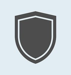 Icon shield defense protection or safety symbol vector