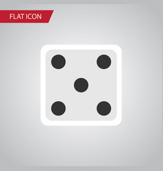 isolated dice flat icon backgammon element vector image