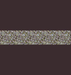 Knitted marl tweed variegated heather border vector