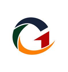 Letter g modern vector