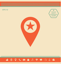 map pointer with star vector image