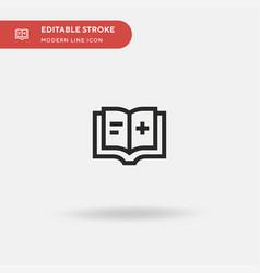 Medical handbook simple icon vector