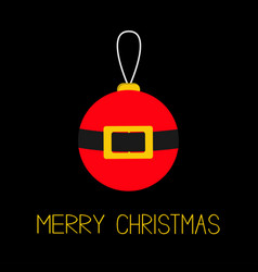 merry christmas ball toy hanging tree decoration vector image