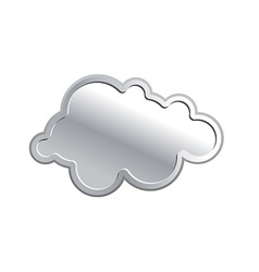Metallic cloud Iron sky on a white background vector image
