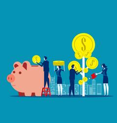 money profit growth business concept business vector image