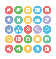 Multimedia Colored Icons 9 vector