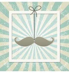 Mustache retro background vector image