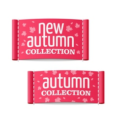New autumn collection clothing labels vector image