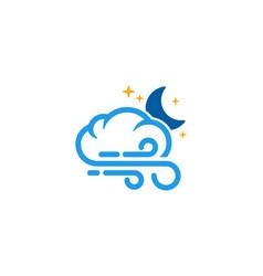 Night weather and season logo icon design vector