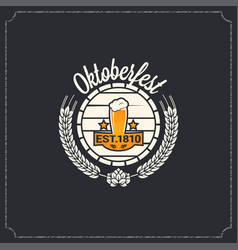 Oktoberfest logo design background vector