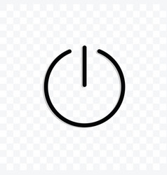 On off power symbol icon isolated on transparent vector
