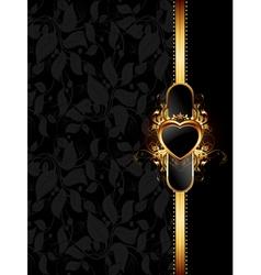 Ornate golden frame vector