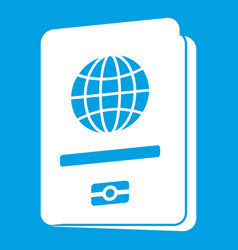 Passport icon white vector