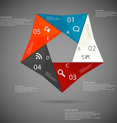 Pentagon origami infographic vector