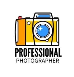 Photo studio or professional photographer logo vector