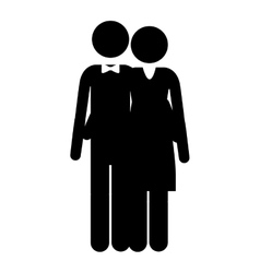 pictogram husband and wife embraced vector image