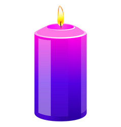 Pink purple aroma candle vector