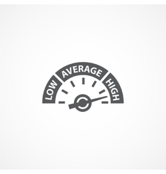Rating meter icon vector image