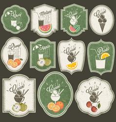 retro vintage style fast food designs vector image