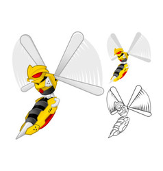 Robot Wasp vector