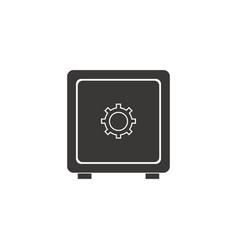 Safe box money bank security code image vector