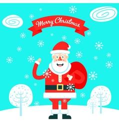 Santa Bag vector image