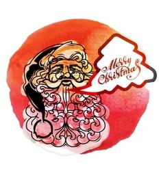 Santa Claus Creative Christmas card vector image