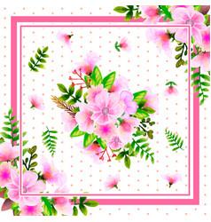 Scarf floral pattern design vector