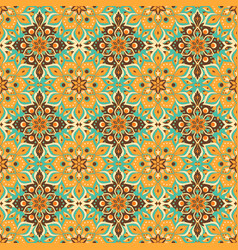 Seamless hand drawn mandala pattern vector