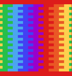 Seamless texture with rainbow basket weaving vector