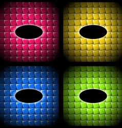 Set of quilt frames vector image