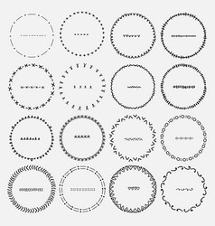 set of round frames for decoration vector image