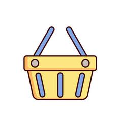Shopping basket icon cart vector