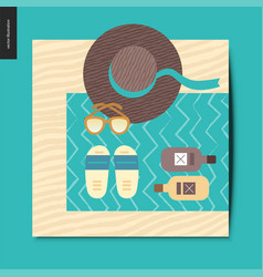 simple things - beach vector image