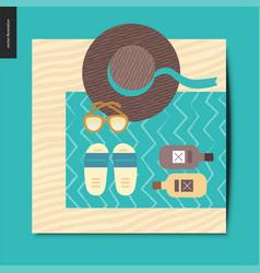 simple things - beach vector image