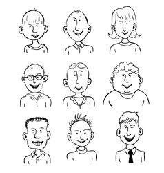 Smiling faces vector