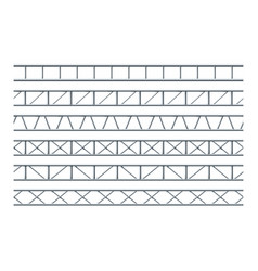 steel truss girder realistic seamless pattern for vector image
