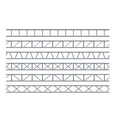 Steel truss girder realistic seamless pattern vector