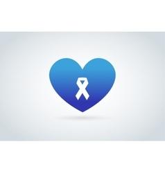 Stop cancer medical logo icons concept vector