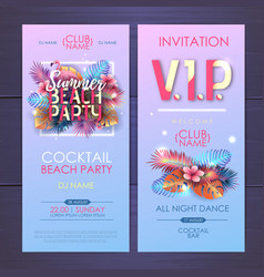 Summer disco party typography poster vector