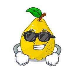super cool bunch cartoon of juicy yellow quinces vector image