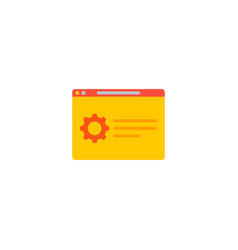 support page icon flat element vector image
