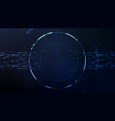 Technological future interface hud circuit vector