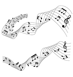 Two music chord styles flowing vector