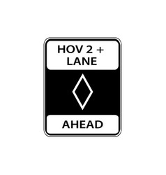 usa traffic road sign lane ahead reserve for vector image