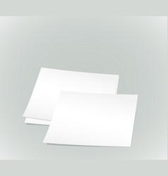 white paper sheets vector image